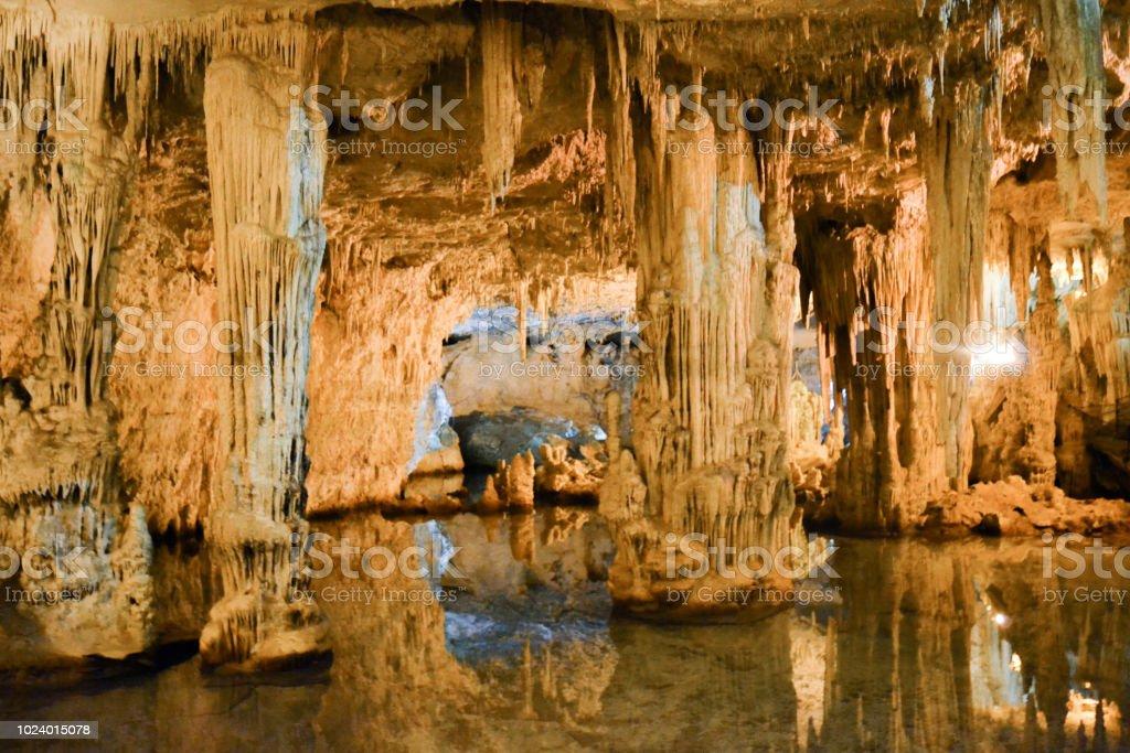 Grotte di Nettuno stock photo