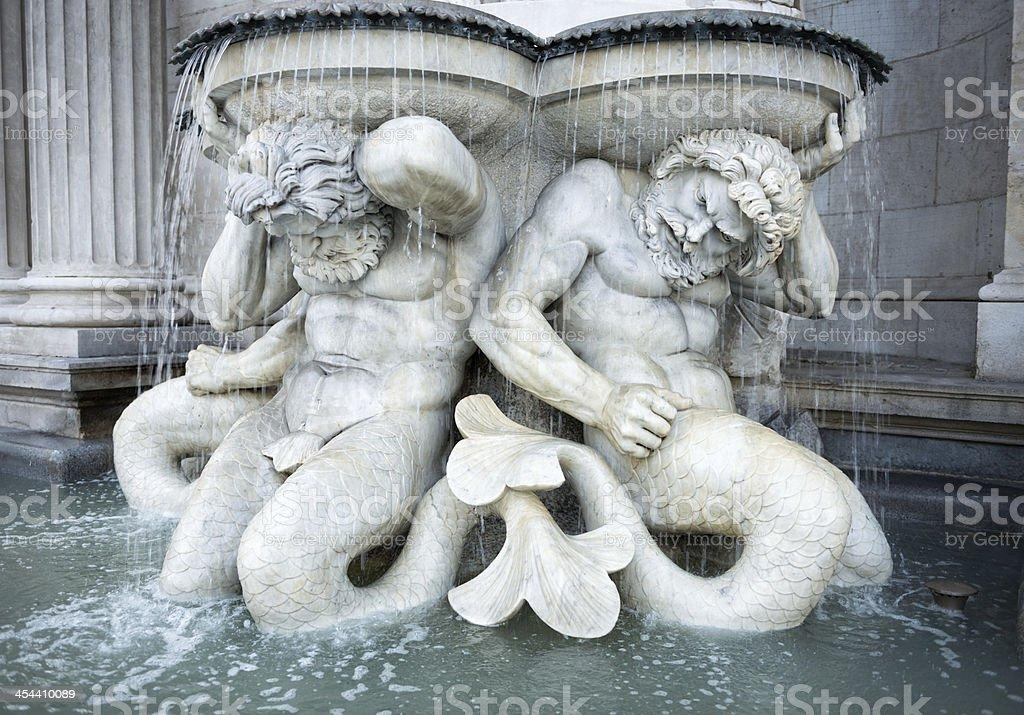 Neptune Fountain at Albertina, Vienna, Austria royalty-free stock photo