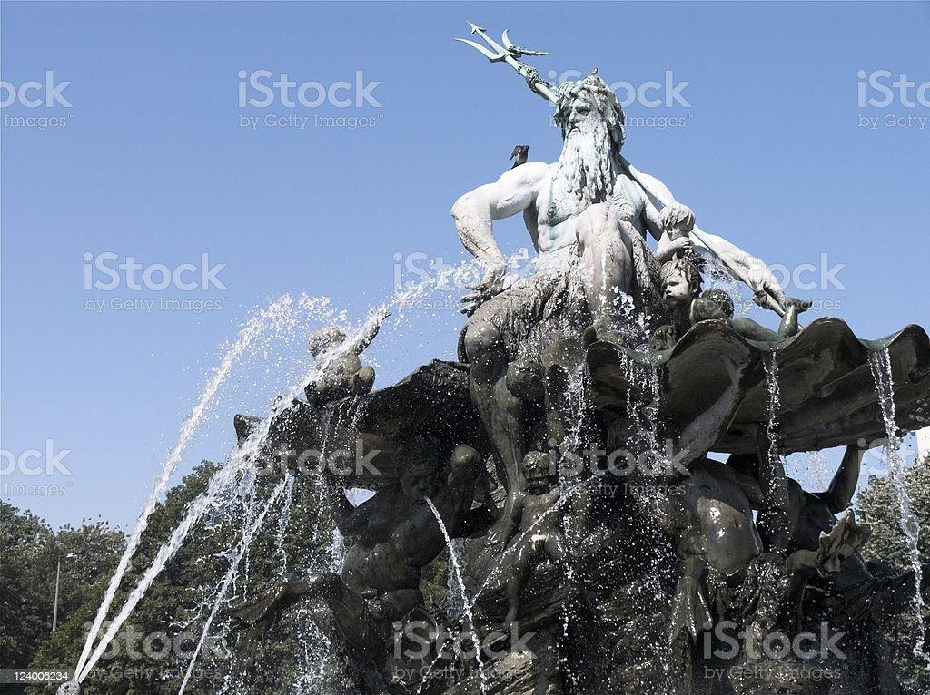 Neptune Fountain Berlin stock photo