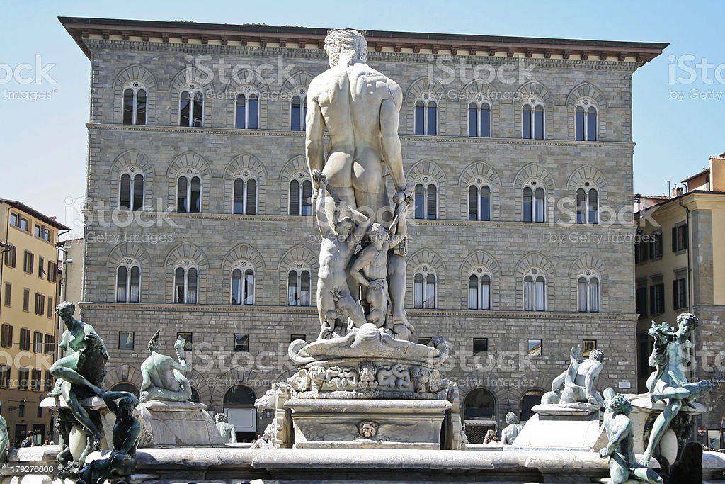 Neptune Fountain in Florence royalty-free stock photo