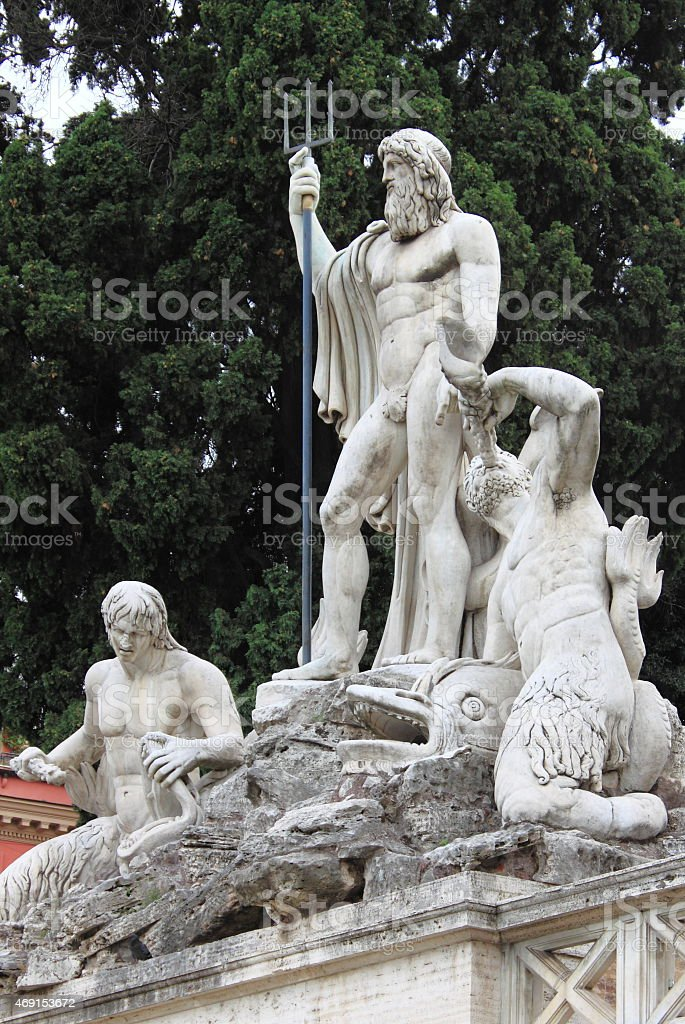 Detail Of Neptune Fountain Rome Stock Photo - Download