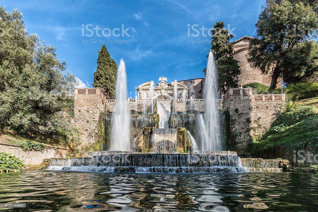Neptune Fountain in Villa D'este, Tivoli [1] stock photo