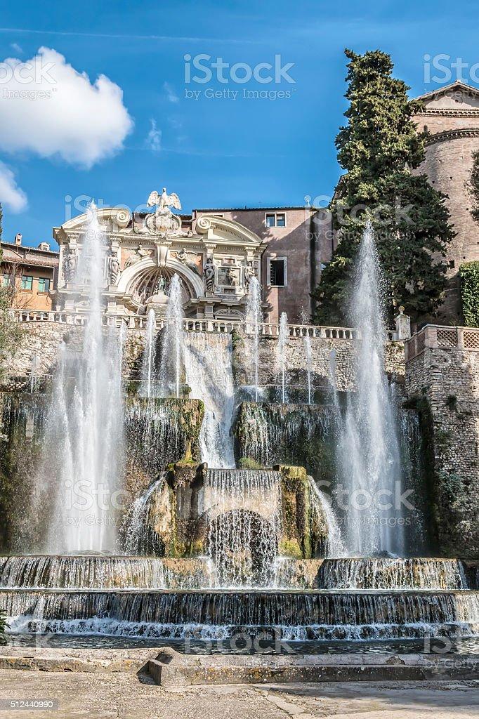 Neptune Fountain in Villa D'este, Tivoli [2] stock photo