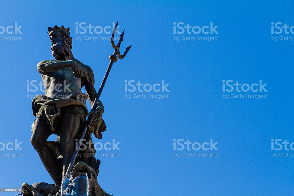 Neptune Fountain, Trento stock photo