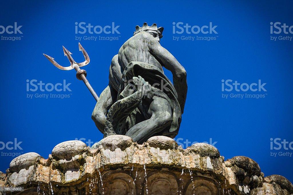 Neptune Fountain, Trento royalty-free stock photo