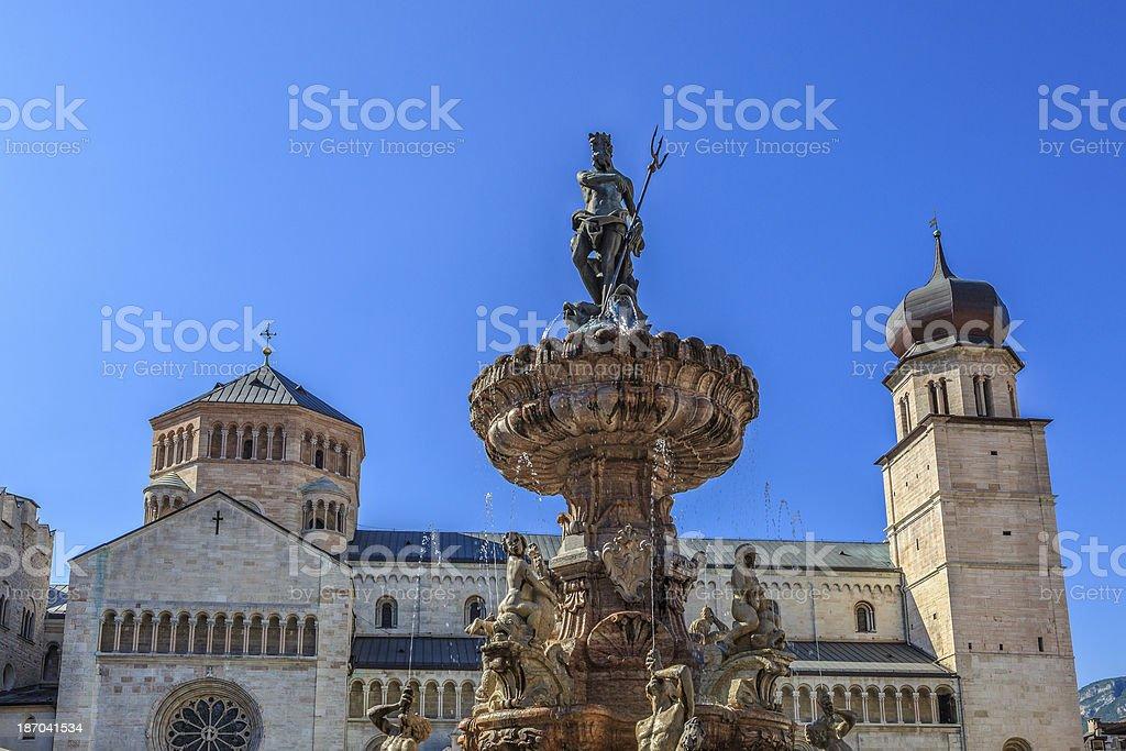 Neptune Fountain, Trento stock photo