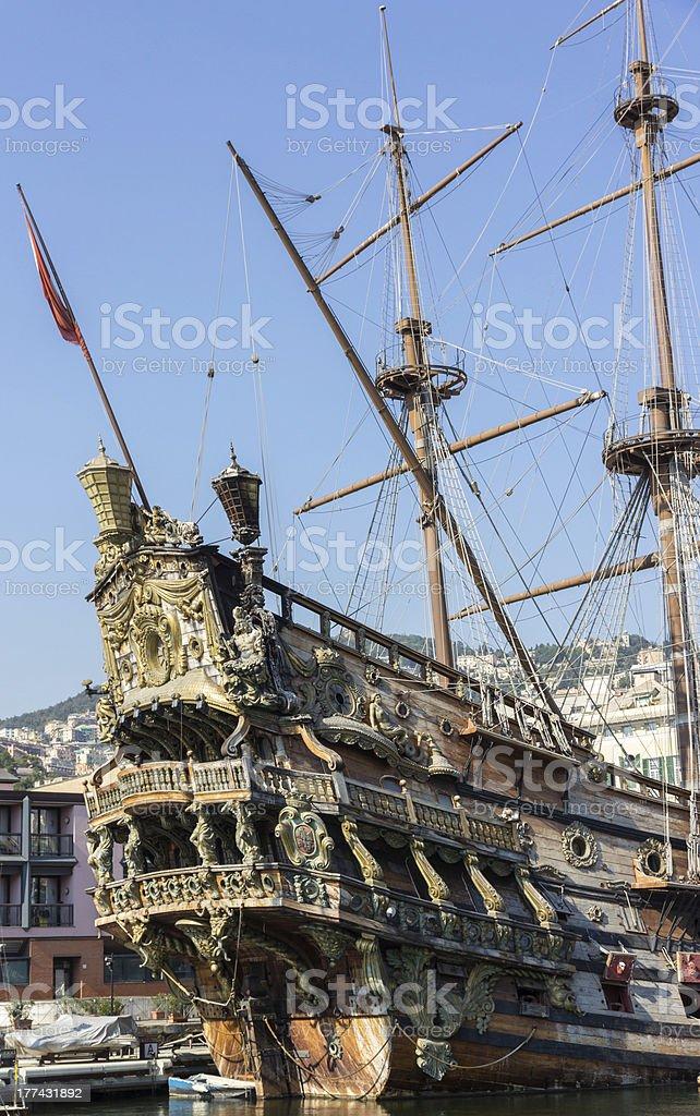 Neptune galleon stock photo