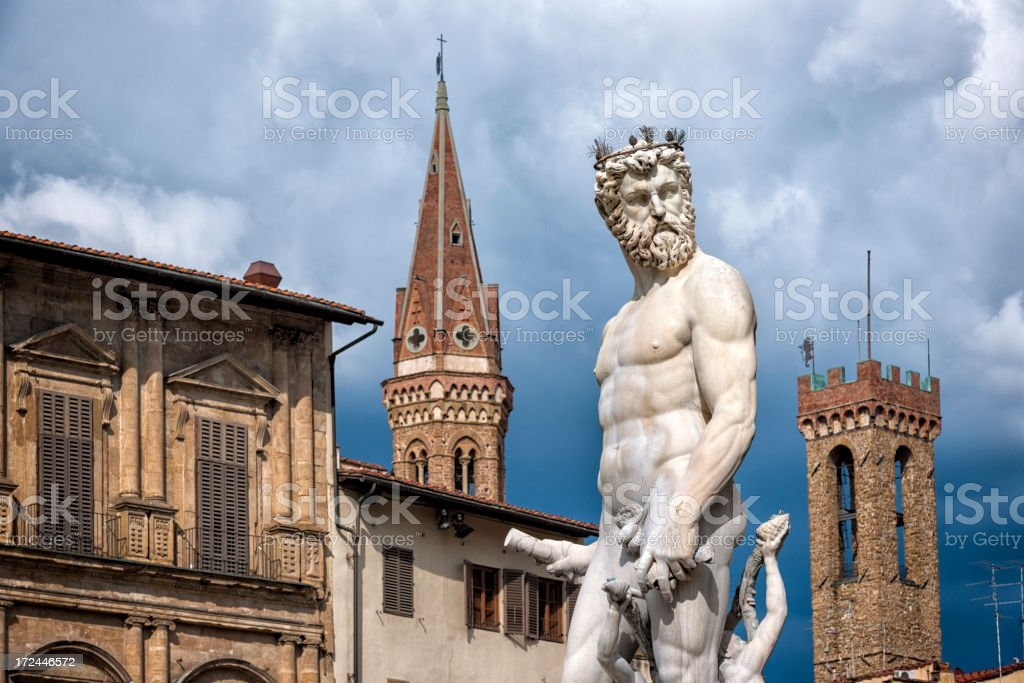 Neptune in Florence stock photo