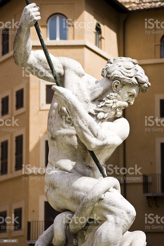 Neptune Sculpture in Rome, Italy royalty-free stock photo