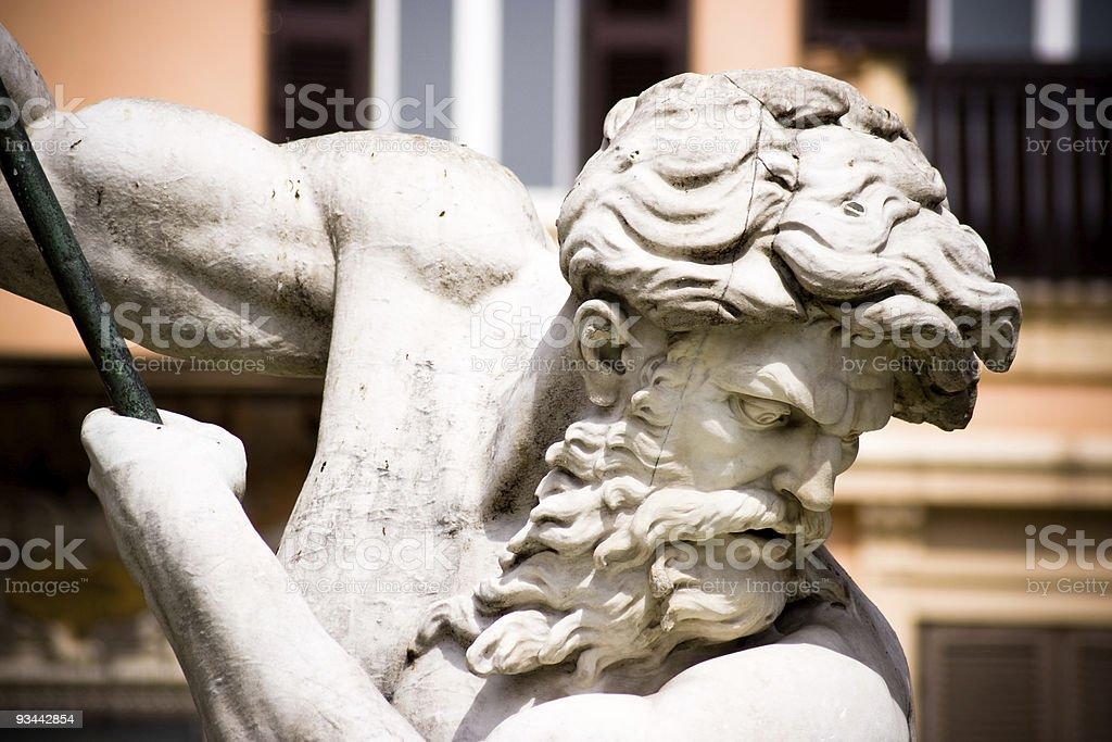 Neptune sculpture royalty-free stock photo