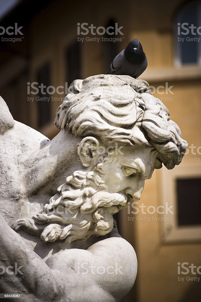 Neptune sculpture royalty-free stock photo