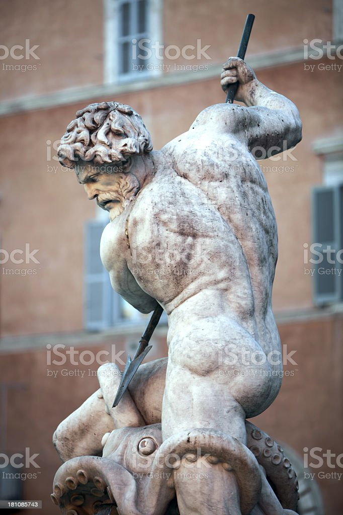 Neptune statue royalty-free stock photo
