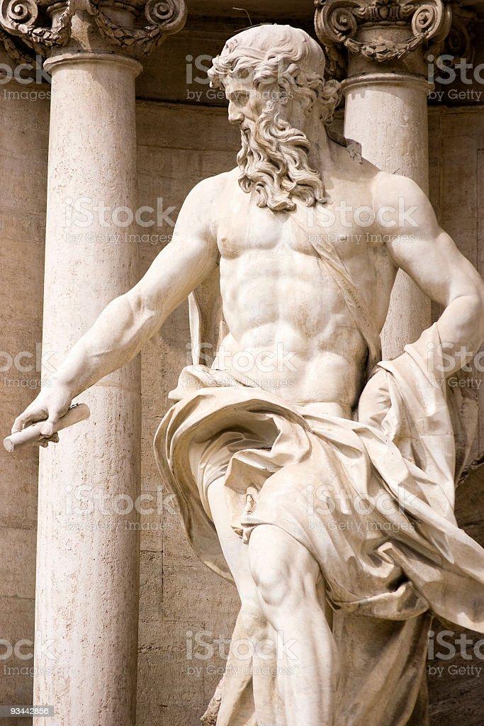 Poseidon-statue Lizenzfreies stock-foto