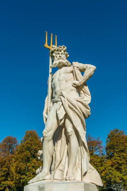 Neptune with trident stock photo