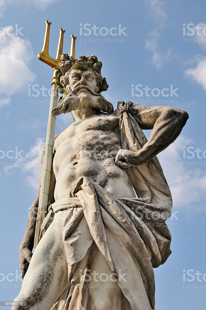 Neptune With Trident stock photo