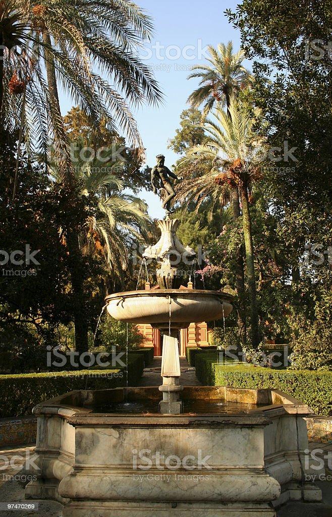 Neptunes Fountain. stock photo