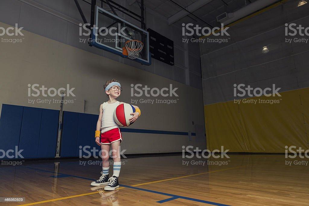 Nerd Basketball royalty-free stock photo