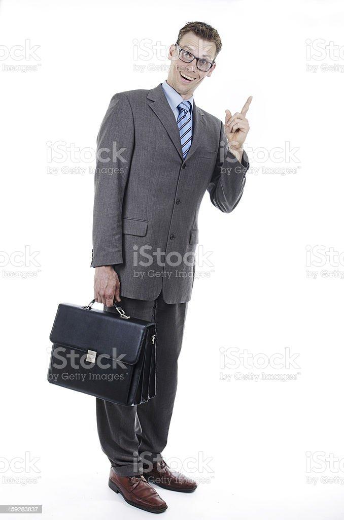 Nerd businessman stock photo