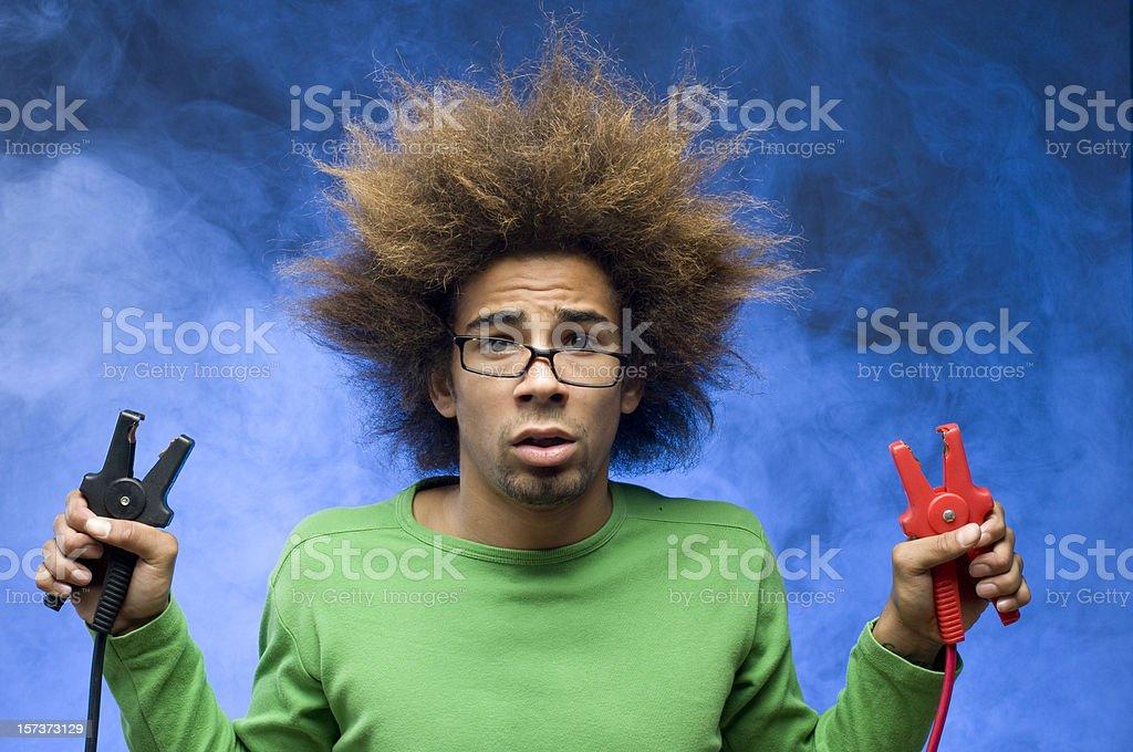 nerd causing short circuit royalty-free stock photo