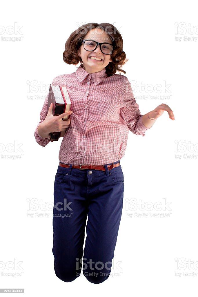 Nerd chica foto de stock libre de derechos