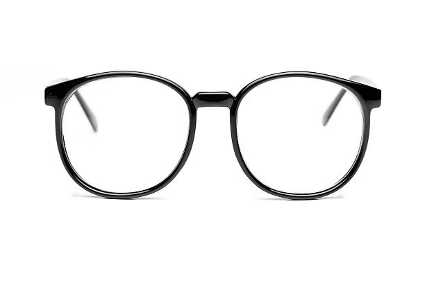 Nerd glasses isolated on white with path stock photo