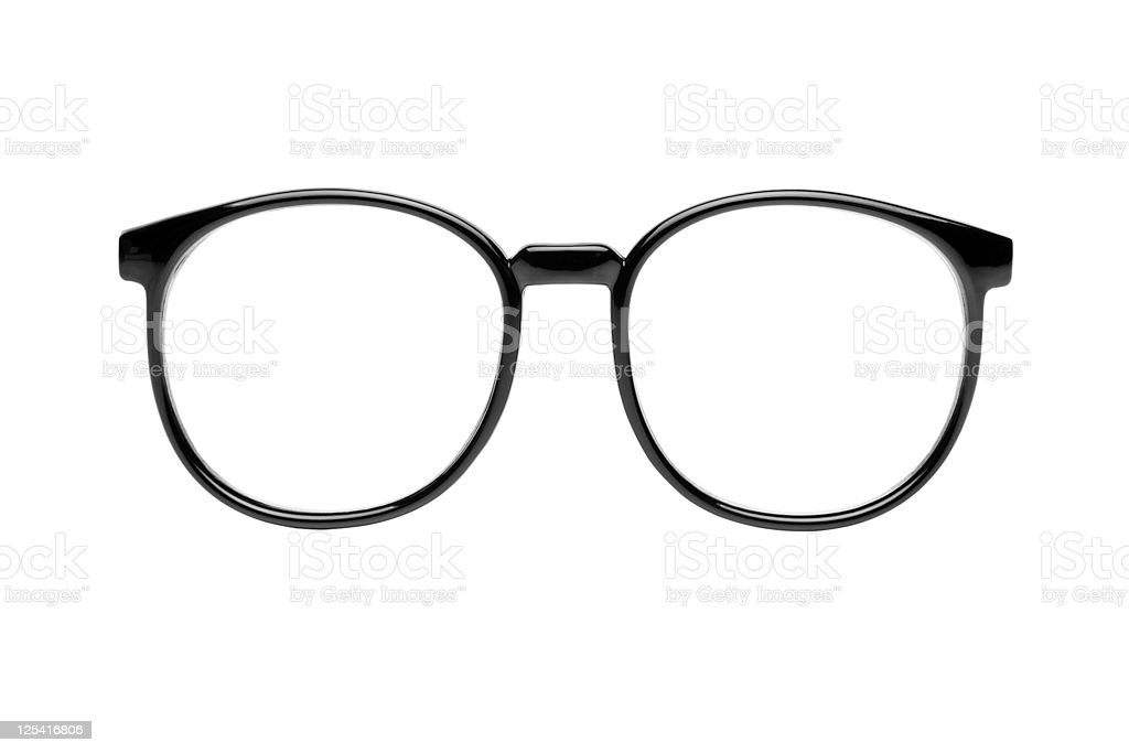 Nerd glasses with clipping paths stock photo