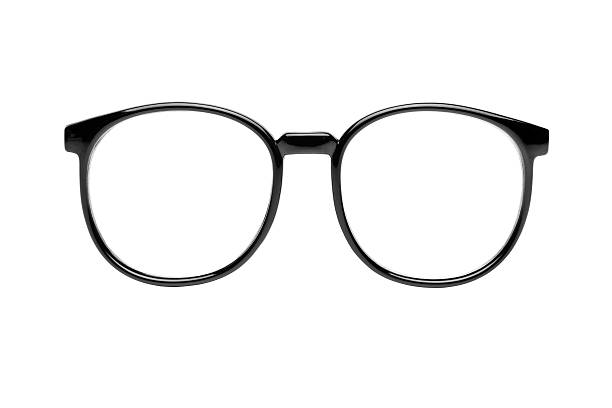 nerd glasses with clipping paths - eyewear stock pictures, royalty-free photos & images