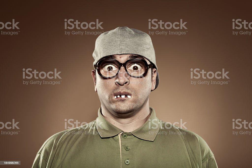Nerd guy stock photo