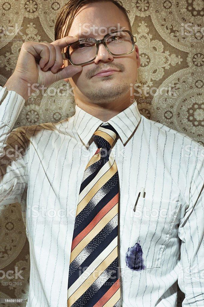 nerd in the office stock photo