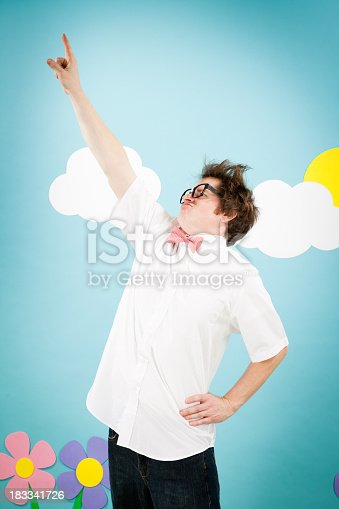 istock Nerd Man! A Superhero to be Reckoned With 183341726