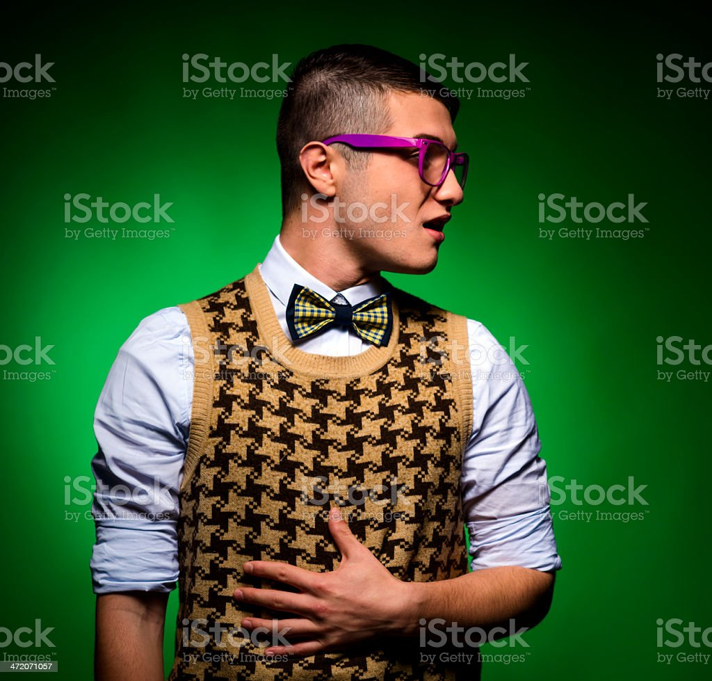 nerd portrait royalty-free stock photo