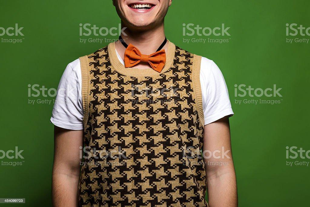 nerd smile stock photo