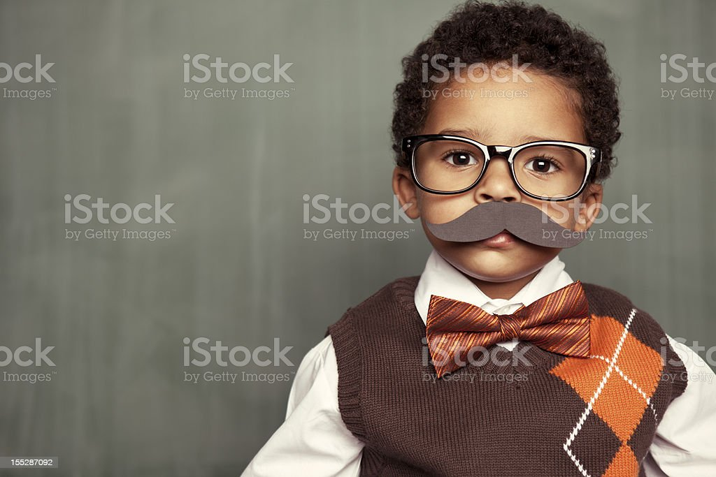 Nerd with Mustache royalty-free stock photo