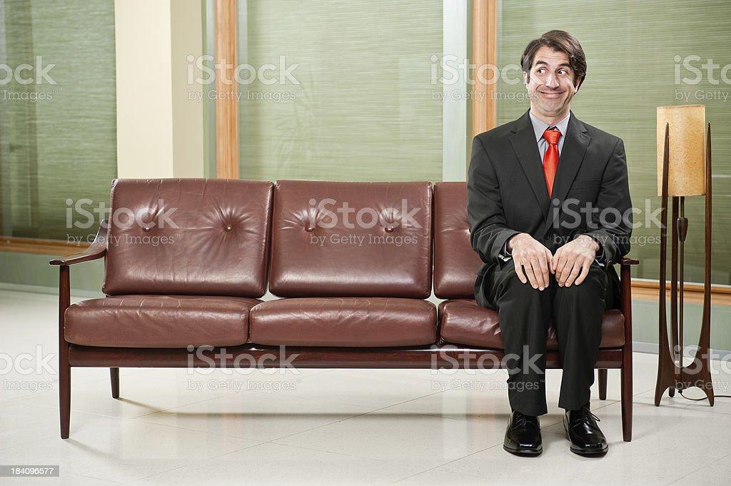 Nerdy Businessman stock photo