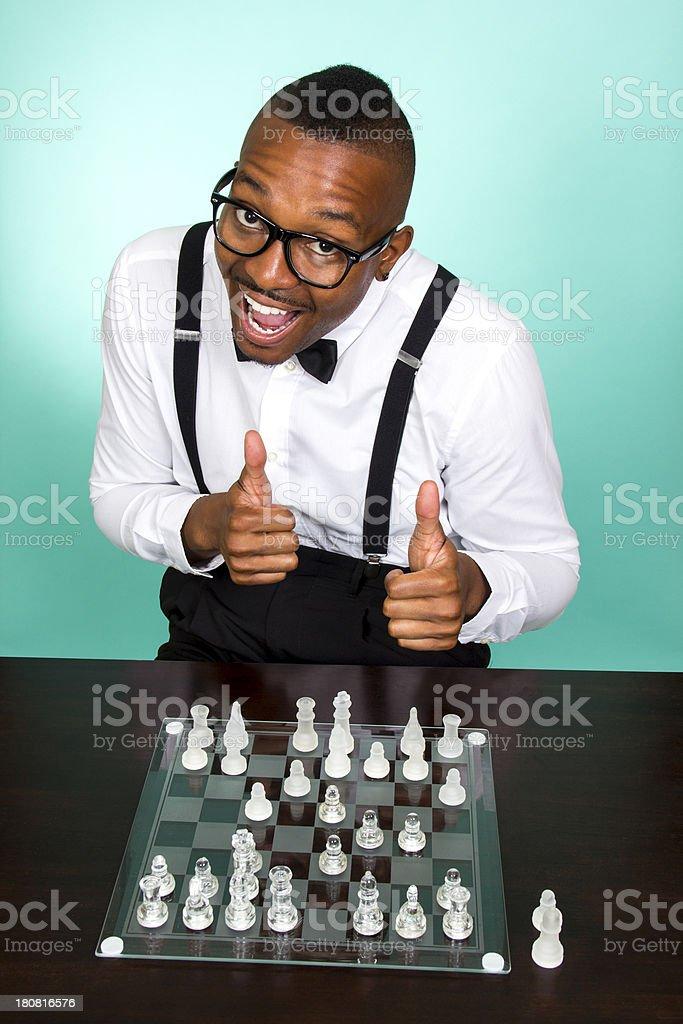 Nerdy Chess royalty-free stock photo