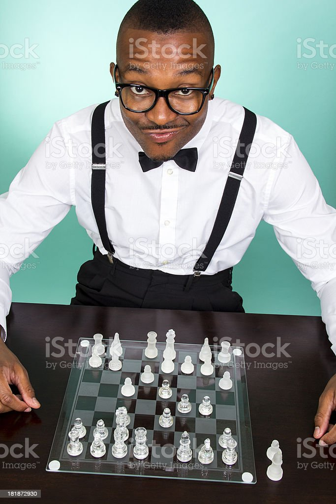 Nerdy Chess royalty-free stock photo