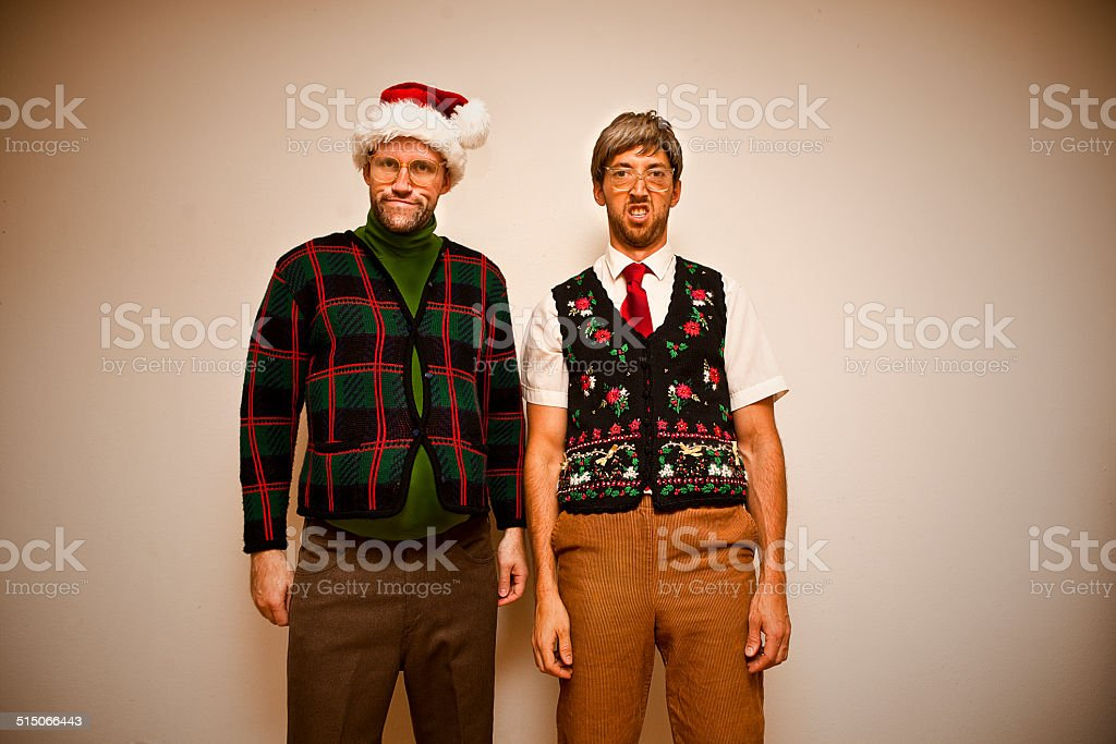 Nerdy Christmas stock photo