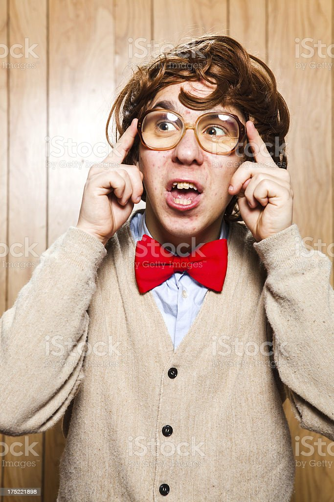 Nerdy College Student With Big Glasses royalty-free stock photo
