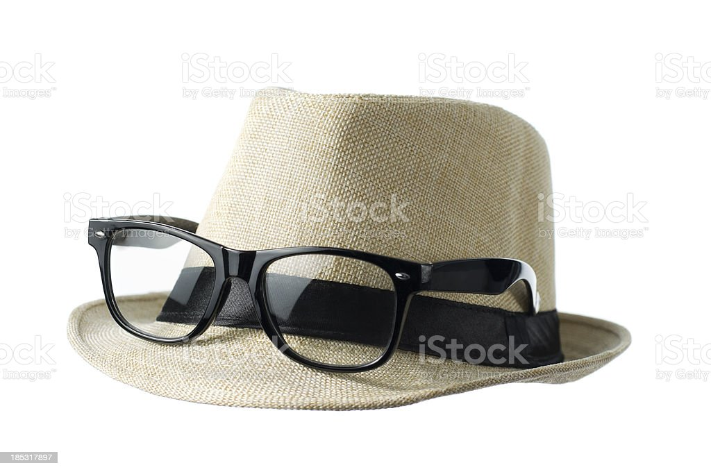 nerdy hat royalty-free stock photo
