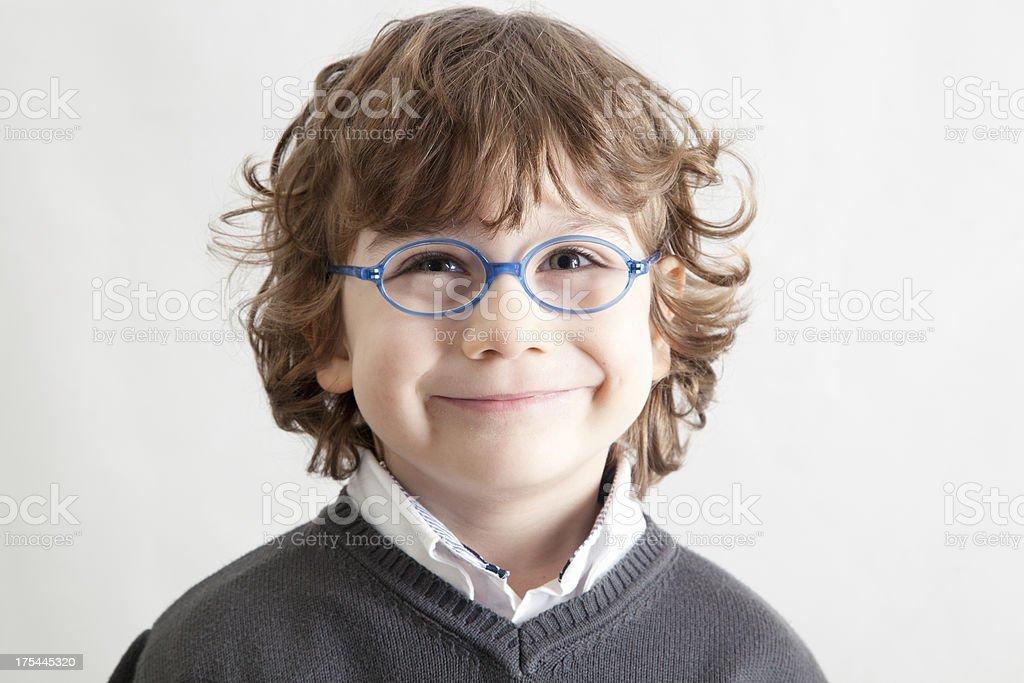 Nerdy Kid stock photo