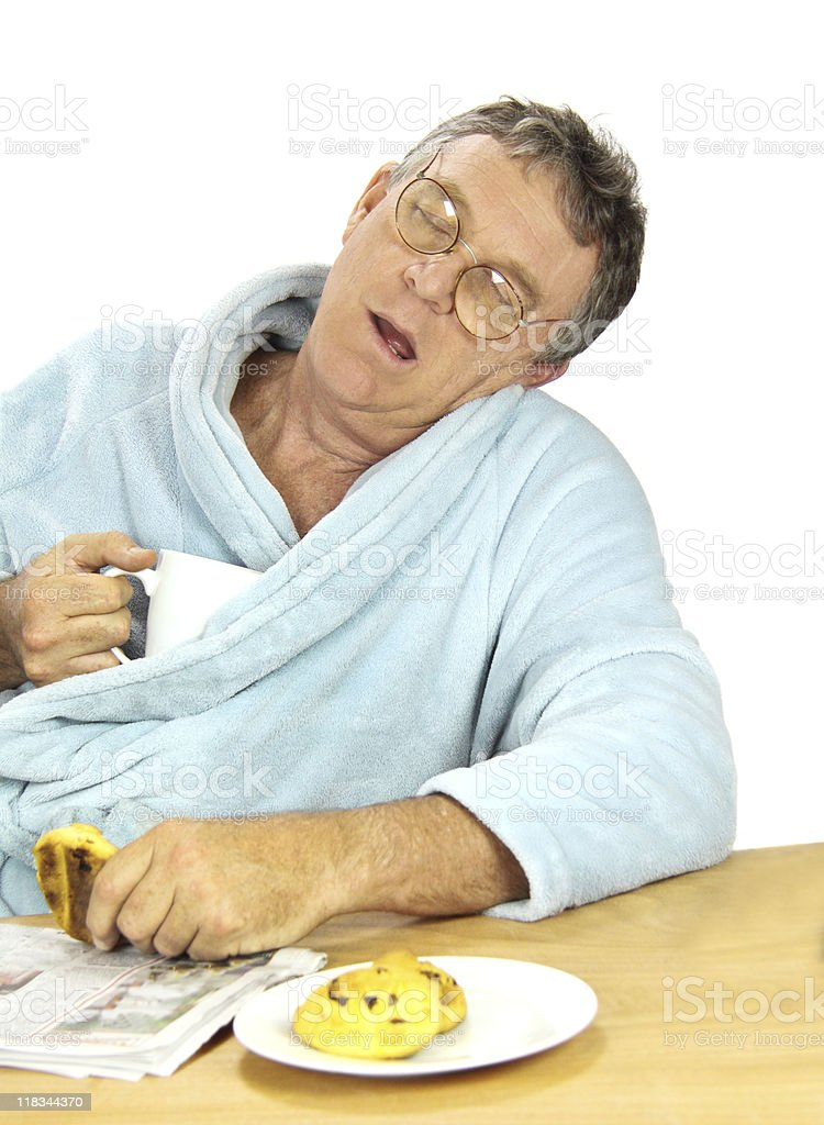 Nerdy Man Asleep royalty-free stock photo