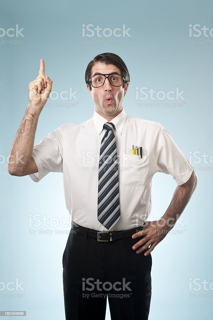 Nerdy Office Worker royalty-free stock photo