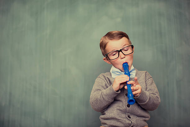 nerdy tune - recorder stock photos and pictures