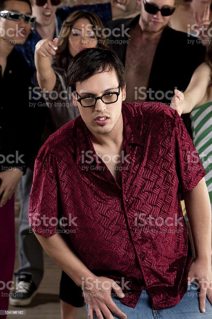 Nerdy young man stock photo