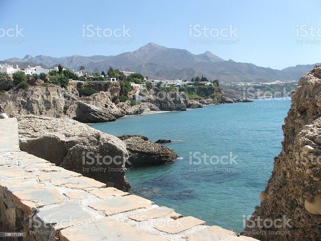 Nerja view, Spain royalty-free stock photo