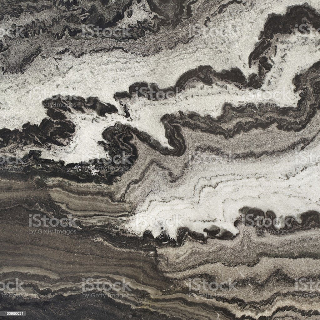 Nero Mistral Wave Marble square stock photo