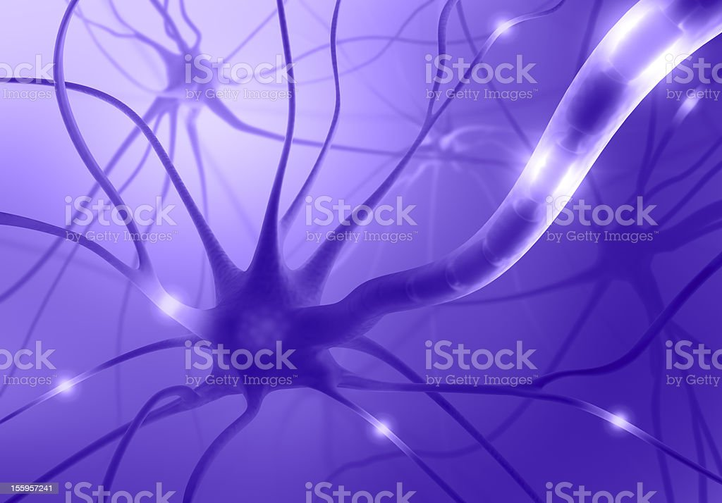 Nerve Cell Axon royalty-free stock photo