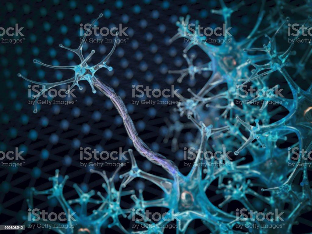 Nerve cells, myelin sheath stock photo
