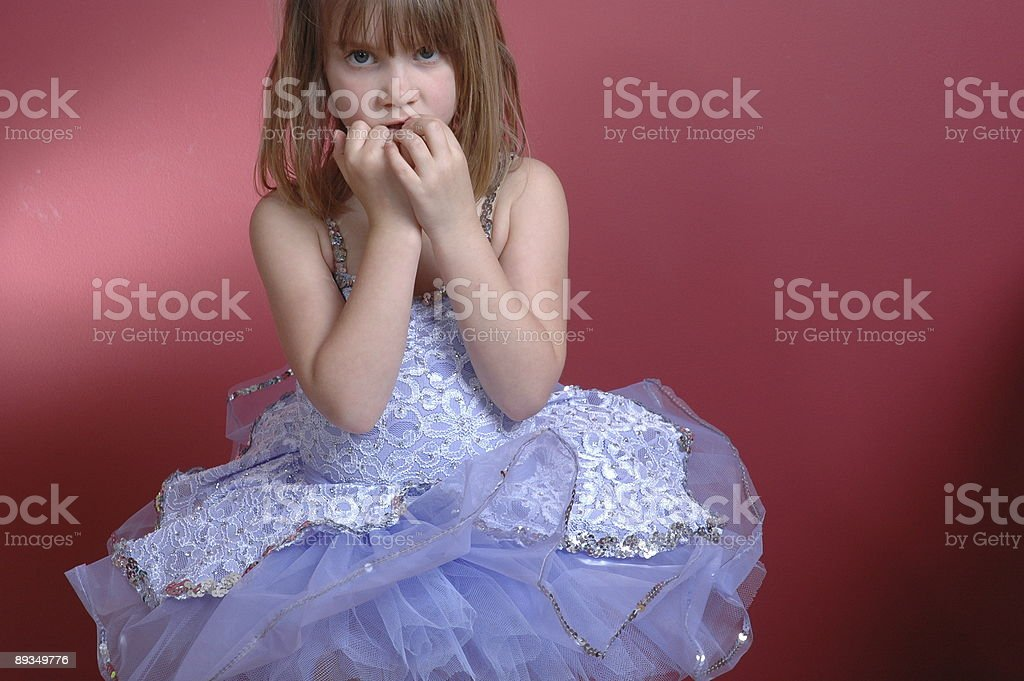 Nervous Ballerina royalty-free stock photo