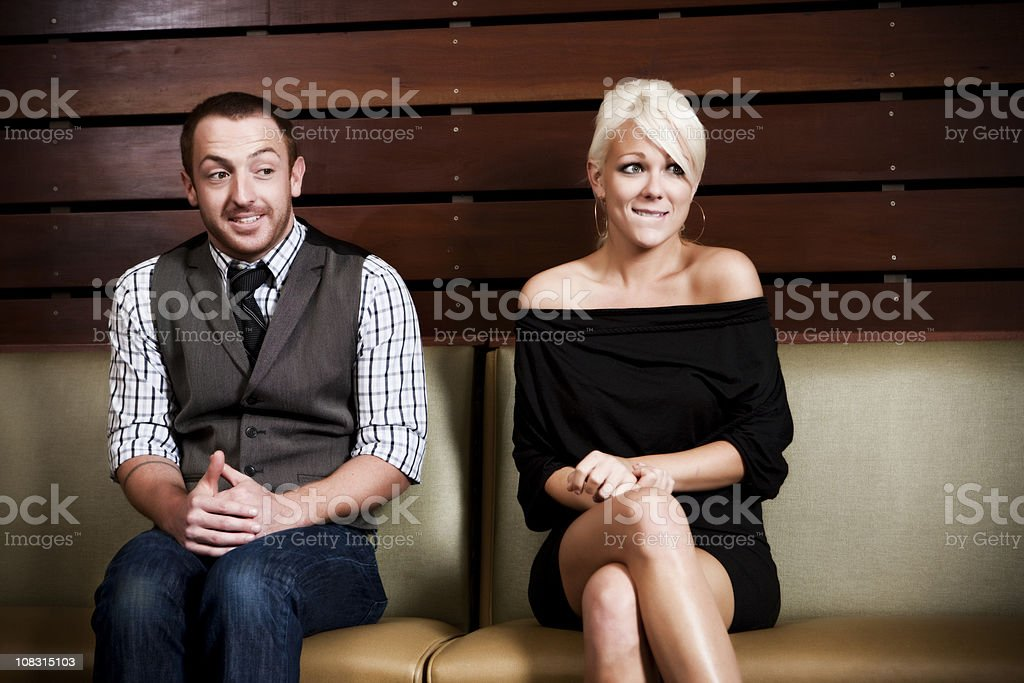 Nervous Dating  20-29 Years Stock Photo